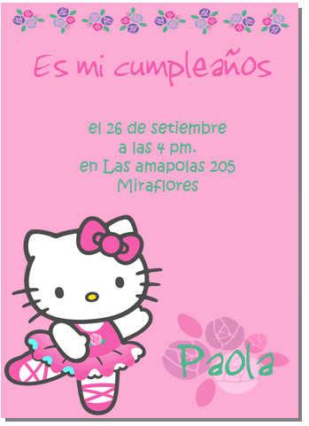 Tarjeta De Invitación De Hello Kitty Web Del Bebé
