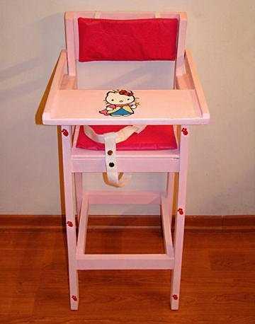 Sillas de comer para tu beb modelos que te encantar n for Silla de bebe de madera