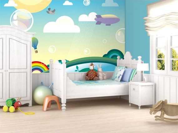 Decoraci n de cuartos de bebes con vinilos perfecta for Cuartos bebes recien nacidos