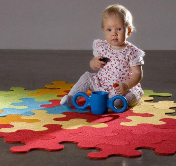 Alfombra para el cuarto del beb escoge la ideal web del beb - Alfombras para bebes lavables ...