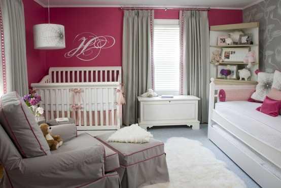 Decoraci n del cuarto de tu beb con las mejores for Habitacion bebe gris