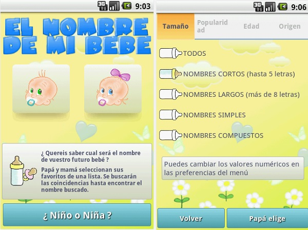 ¡Esta app cuenta con una base de datos de 1000 nombres de bebés categorizados según origen género, y más!